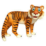 Funny Tiger cartoon character. 3d rendered illustration of funny Tiger cartoon character Royalty Free Stock Photography