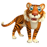 Funny Tiger cartoon character. 3d rendered illustration of funny Tiger cartoon character Royalty Free Stock Images