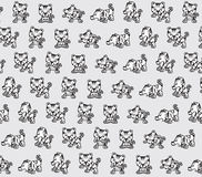 Funny tigers texture. Funny and playful cartoon tigers texture Stock Images