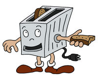 Funny toaster Stock Image