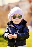 Funny toddler girl royalty free stock images