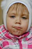 Funny toddler girl Stock Photography