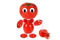 Funny  tomato keeps tomato juice Stock Photos