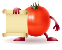 Funny Tomato with papirys Stock Images