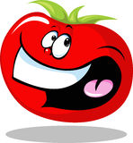 Funny tomato vegetable smiling isolated on white background - vector Royalty Free Stock Images