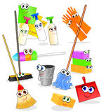 Funny tools and accessories for cleaning royalty free stock photography