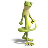 Funny toon gecko Royalty Free Stock Photos