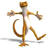 Funny toon gecko Royalty Free Stock Images