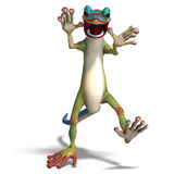 Funny toon gecko Stock Image