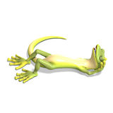 Funny toon gecko Stock Photography
