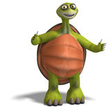 Funny toon turtle enjoys life Royalty Free Stock Image