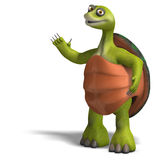 Funny toon turtle enjoys life Royalty Free Stock Images