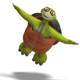 Funny toon turtle enjoys life Stock Photos