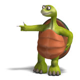 Funny toon turtle enjoys life Royalty Free Stock Photography