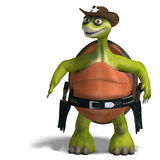 Funny toon turtle enjoys life Stock Images