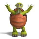 Funny toon turtle enjoys life Royalty Free Stock Image