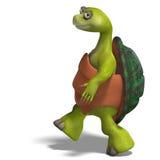 Funny toon turtle enjoys life Stock Photography