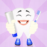 Funny tooth cartoon Stock Photos