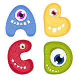 Funny Toothy Monster Alphabet Royalty Free Stock Photo