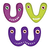 Funny Toothy Monster Alphabet Royalty Free Stock Photos