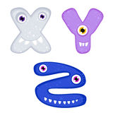 Funny Toothy Monster Alphabet Stock Photography