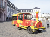 Funny tourist car in the centre of Trier stock photography
