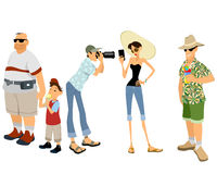 Funny tourist set. Vector illustration of a funny tourist set royalty free illustration