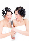 Funny towel friends Royalty Free Stock Photography