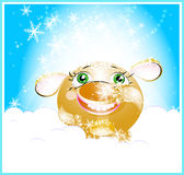 Funny toy. Christmas morning, beautiful smile, good intetions Stock Photos