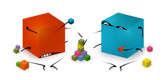 Funny Toy Blocks Playing Royalty Free Stock Photos