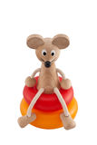 Funny toy mouse Stock Photography