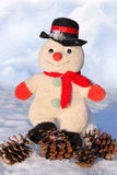 Funny toy snowman Royalty Free Stock Image