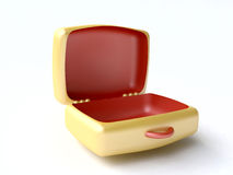 Funny Toy Yellow Suitcase Royalty Free Stock Photography