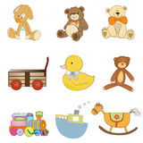 Funny toys items set Royalty Free Stock Image