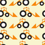 Funny tractor opposite pattern Stock Images