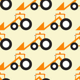 Funny tractor pattern Royalty Free Stock Photography