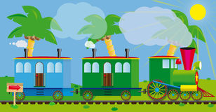 Funny train Royalty Free Stock Images