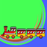 Funny train. Vector illustration of Transport Cartoon. Little funny train Stock Images
