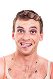 Funny transvestite Royalty Free Stock Image