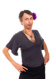Funny transvestite portrait Royalty Free Stock Photography