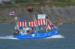 Funny Trawler Race boat Folkestone England Stock Photography