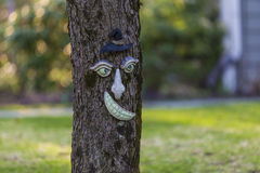 Funny tree with human face Stock Photo