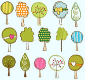 Funny trees seamless pattern Royalty Free Stock Photo