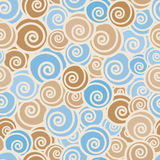Funny trendy curls seamless pattern. Stock Photo