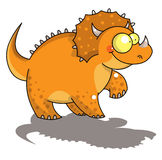Funny triceratops. Digital illustration representing a funny triceratop dinosaur Stock Images