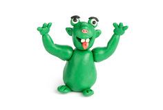 Funny troll of plasticine Royalty Free Stock Photo