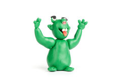 Funny troll of plasticine Stock Photos