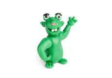 Funny troll of plasticine Royalty Free Stock Images