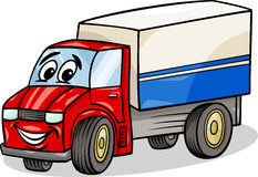 Funny truck car cartoon illustration Stock Image