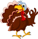 Funny turkey cartoon posing Royalty Free Stock Photo